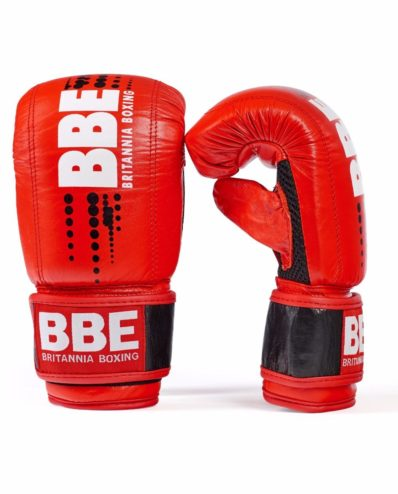 BBE  BRITANNIA BOXING CLUB  RING TRAINER LEATHER SPARRING GLOVES  14oz